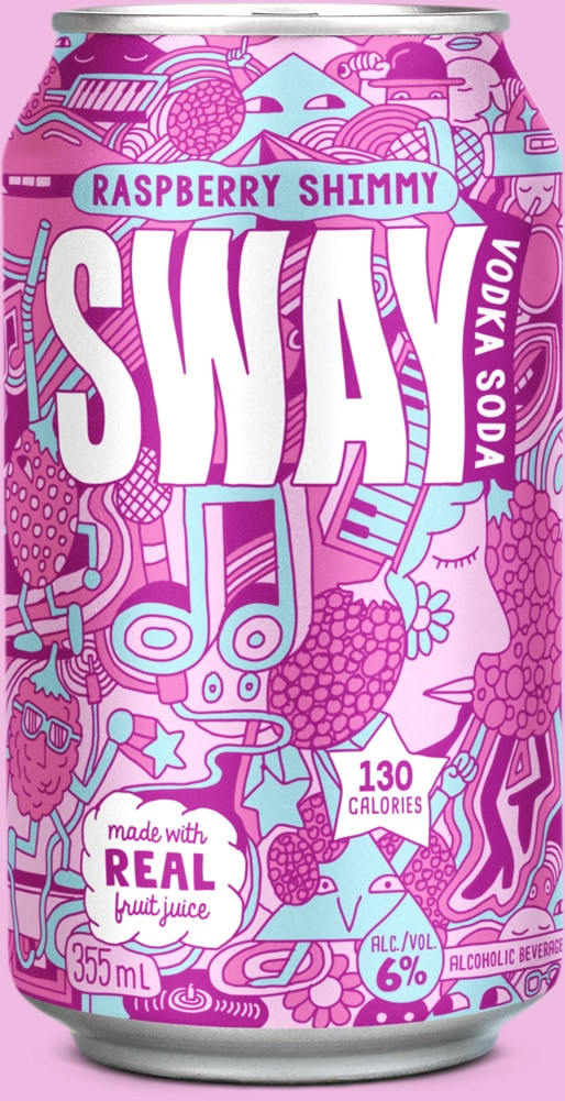 Sway Raspberry Shimmy Can